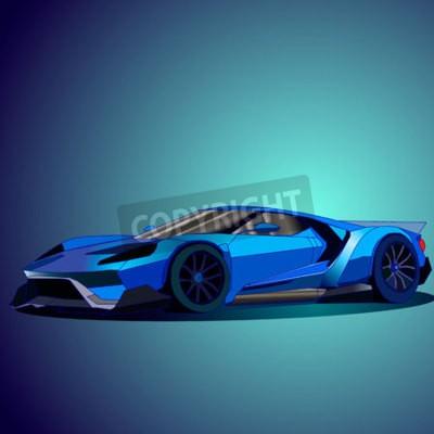 Bild Vektor-Illustration der neuen blauen Sportwagen.