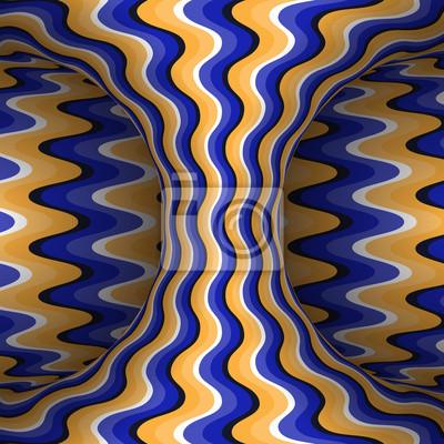 Vektor-Illustration der optischen Täuschung.