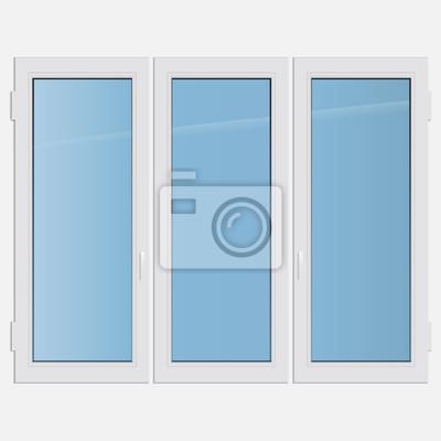 Bild Vektor-Illustration dreifachen Flügel Kunststoff-Fenster