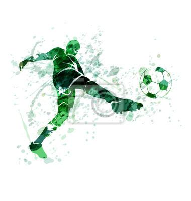 Vektor-Illustration eines Fußballspielers mit der Kugel