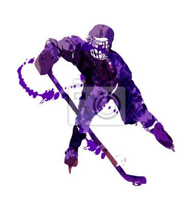 Vektor-Illustration eines Hockeyspielers
