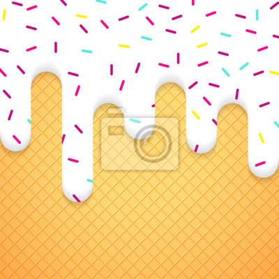 Bild Vektor-Illustration mit Eis und Wafer
