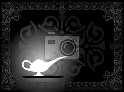 Vektor-Illustration von einer magischen Lampe