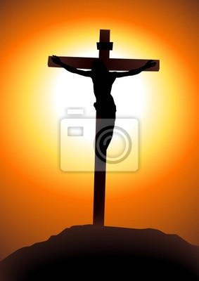 Vektor-Illustration von Jesus Christus am Kreuz