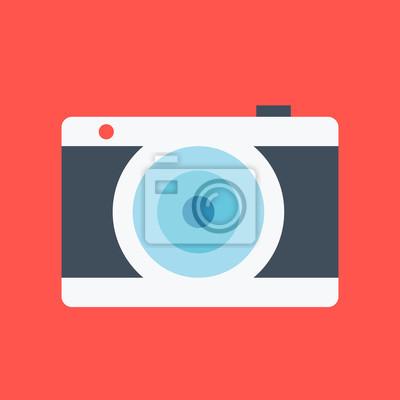 Flachdesign Kamera Konzept. Moderne Vektor Illustration