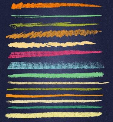 Bild Vektor Kreide Linien oder Pinsel