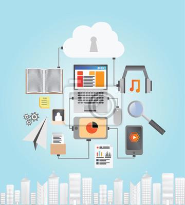 Vektor-Media-Geräte mit Cloud