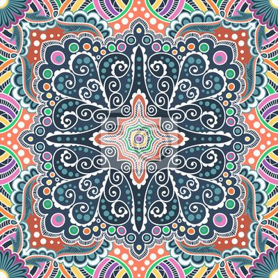 Bild Vektor nahtlose farbige Muster der Spiralen, wirbelt, Ketten