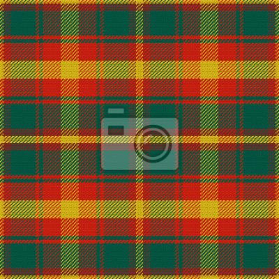 Bild Vektor nahtlose Muster Maple Leaf Tartan