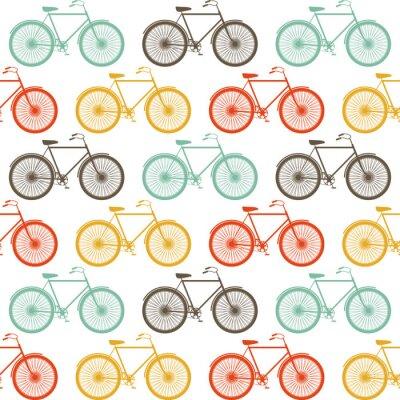 Vektor nahtlose Muster mit Fahrrädern