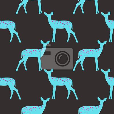 Vektor nahtlose Muster mit Hirschen