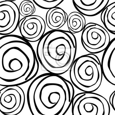 Bild Vektor nahtlose Muster mit runden asymmetrische Formen. Endlos