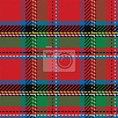 Bild Vektor nahtlose Muster schottischen Tartan königlichen Stewart