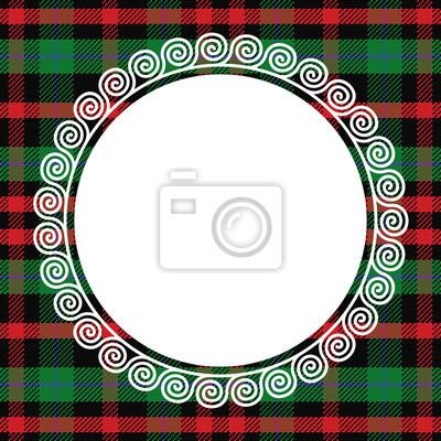 Bild Vektor nahtlose Muster schottischen Tartan mit Rahmen