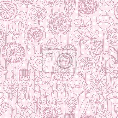 Bild Vektor nahtlose rosa Blumenmuster