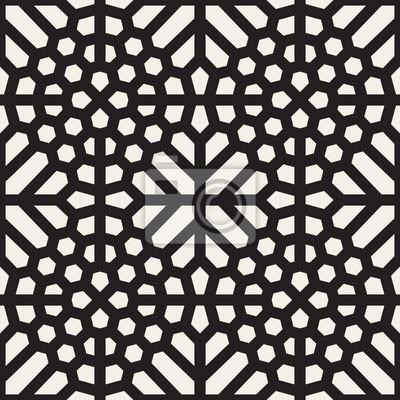 bild vektor nahtlose schwarz wei geometrischen ethnischen mosaik muster - Mosaik Muster