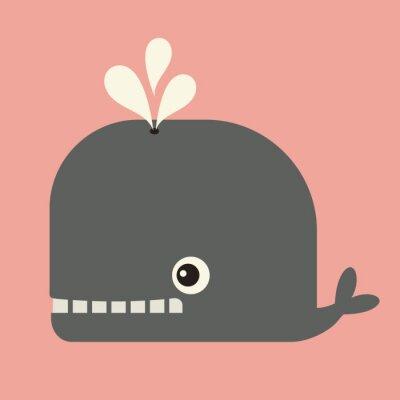 Bild Vektor niedlichen Wal