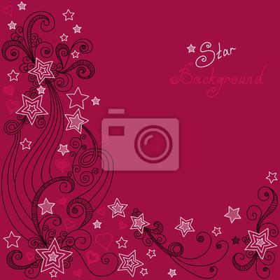 Bild Vektor roten Sternchen-