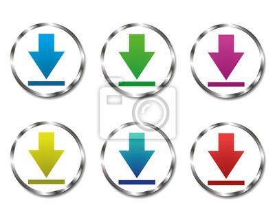 Bild Vektor Sammlung von Schaltflächen Download bereit
