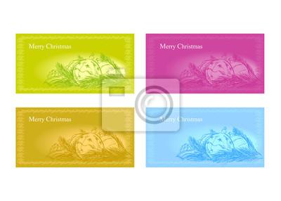 Vektor-Satz von Weihnachten Grußkarten