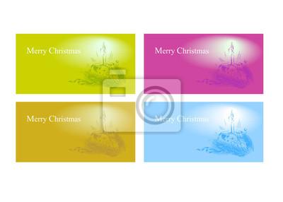 Vektor-Satz von Weihnachtskarten