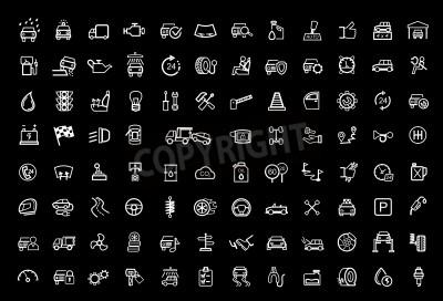 Bild Vektor schwarz Auto Icons Set