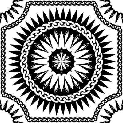 Bild Vektor schwarze Muster-Ketten