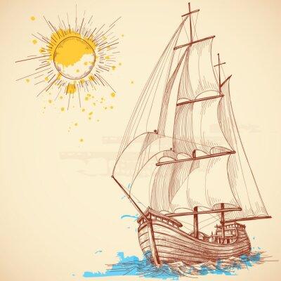 Bild Vektor- Segelboot