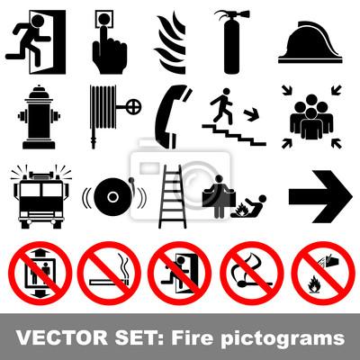 Vektor-Set: Feuer Piktogramme