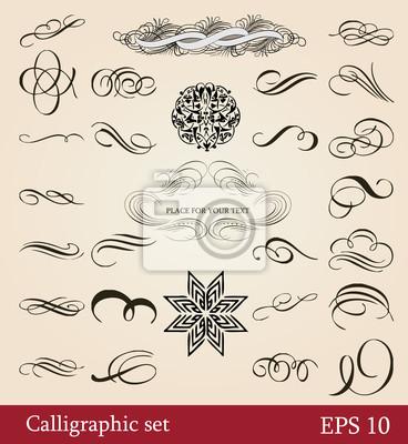 Vektor-Set, kalligraphische Design-Elemente und Seite-Dekoration
