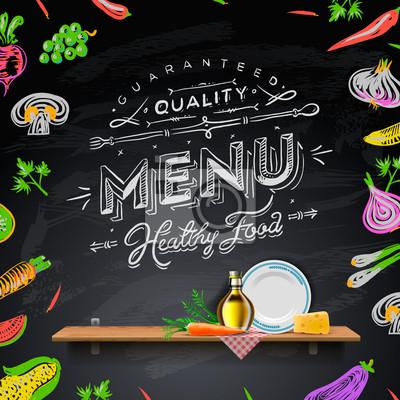 Vektor-Set von Design-Elemente für das Menü an die Tafel