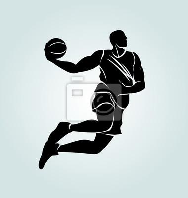 Vektor-Silhouette-Basketball-Spieler