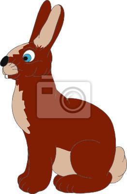 Vektor - sitzend kaninchen auf backgroud isoliert leinwandbilder ...
