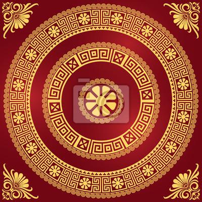 Bild Vektor Traditionelle griechische vintage gold Ornament (Meander)