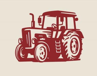 Bild Vektor Traktor-Symbol