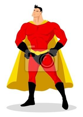 Vektor von Comic-Superhelden posiert