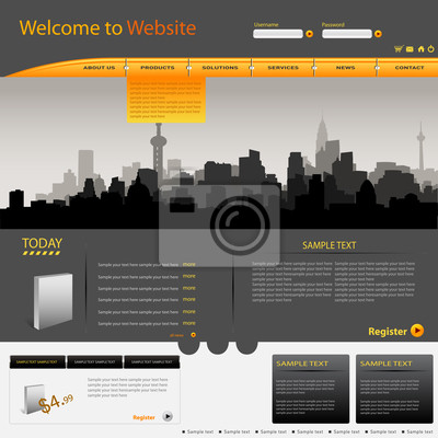 Vektor Web Site Design-Vorlage