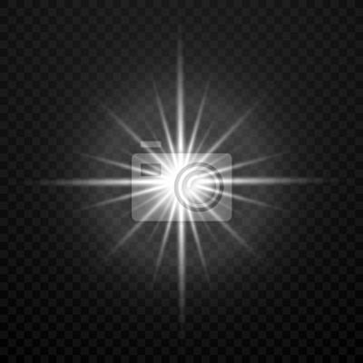 Bild Vektor weiß glühend transparent hell hell Stern Stern Explosion isoliert auf Plaid Hintergrund
