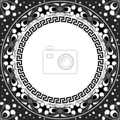 Bild Vektor-Weiß-Muster von Spiralen, wirbelt und Ketten