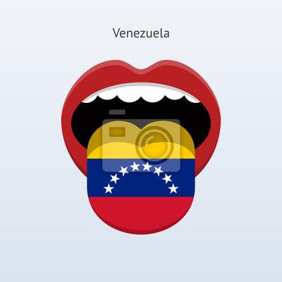 Venezuela Sprache. Abstrakt menschliche Zunge.