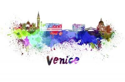Bild Venice skyline in watercolor