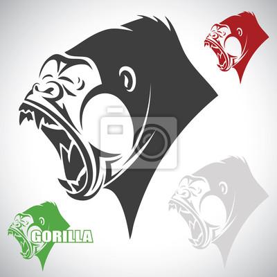 Verärgerte Gorilla - Vektor-Illustration