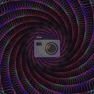 Verdrahteten Fractal Spirale Design