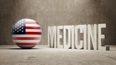 Vereinigte Staaten. Medizin-Konzept.
