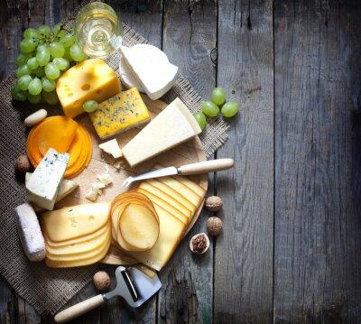 Bild Verschiedene Arten von Käse mit leeren Raum Hintergrund Konzept