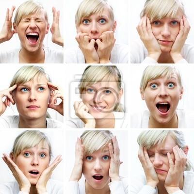 verschiedene Gesichtsausdrücke