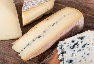 Bild Verschiedene Sorten von Französisch Käse