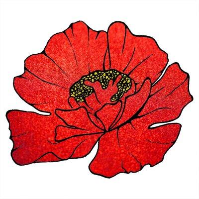 Bild Verschwommene rote Scharlach Glitter Blume Mohn Hintergrundtextur