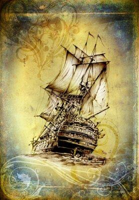 Bild Versenden Sie auf der See- oder Ozeankunstabbildung