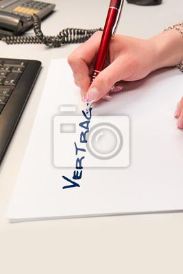 Vertrag Schreiben Leinwandbilder Bilder Kommen Pflicht